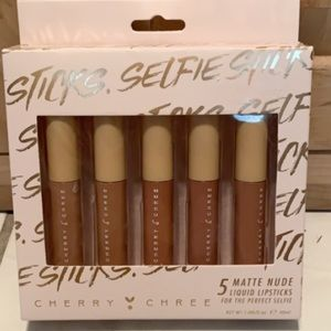 Cherry Chree set of 5 matte nude lipstick
